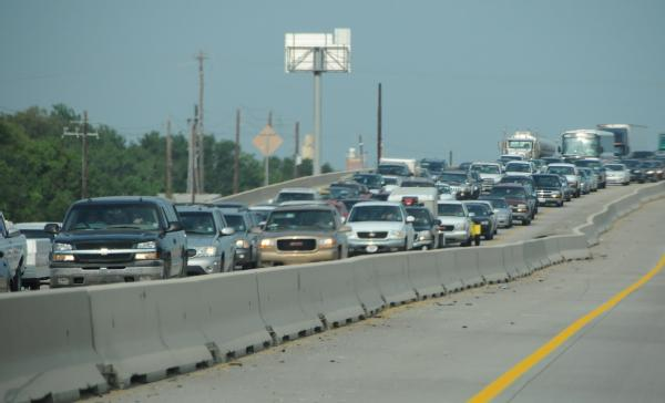 Picture of cars evacuating
